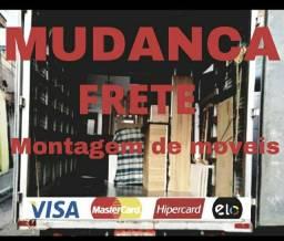 Título do anúncio: FRETE MUDANCA MONTADOR CARREGADOR