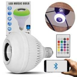 Título do anúncio: Lâmpada Luz Led Rgb Bluetooth Música Caixa Som + Controle
