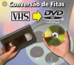 Conversão de fitas VHS para DVD, HD ou Pen Drive