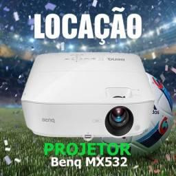 Projetor Locação Benq MX532 3300L e Telão 2,03m x 1,53m