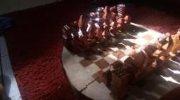 Tabuleiro de xadrez artesanal