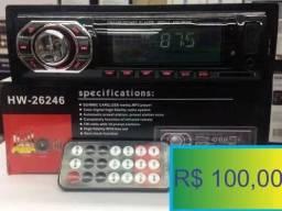 Som Automotivo Mp3 Com Usb Radio Carro Visor