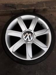 Rodas aro 17 serve vw gm fiat ford com pneus 65-3682-3567 65-99991-5307 wts