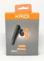 Fone De Ouvido Headset Stereo 1 Lado Bluetooth 4.1 Wireless KD-911 Novo na Caixa Lacrada