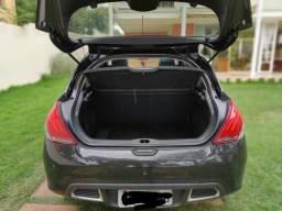 Peugeot 308 Preto 1.6 Turbo - Automático Flex - Revisado - 2016