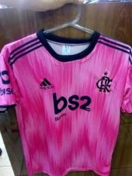 Camisa do flamengo rosa tamanho M e G