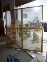 Portas de aço com vidros (Completa)