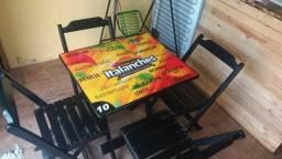 Mesa com cadeira pra lanchonete