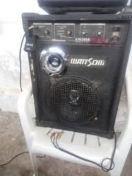 Caixa de som amplificador fone 10 polegada 100 RMS valor 300 reais