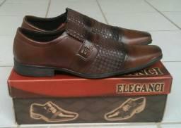 Sapato social masculino, novo, marrom, tamanhos 40, 41 e 42