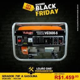 Gerador de Energia a Gasolina Monofásico VG3600S Vulcan Pronta