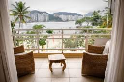 Apartamento temporada Guaruja Astúrias frente total Para o mar