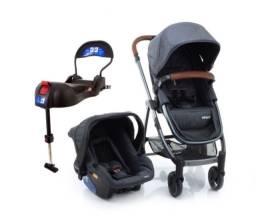 Carrinho + bebê conforto + suporte