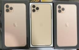 Loja física. Novos Lacrados homologados iPhone 11 pro Max nota fiscal eletrônica retira Hj