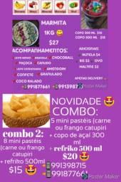 Açaí + mini pastéis