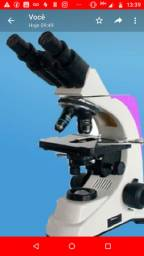 Microscópio Novo Led lentes Cristal ótica infinita