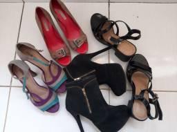 Lote de calçados femininos n° 38 em perfeito estado