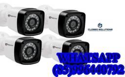 Título do anúncio: Câmeras de Segurança Kit 4 câmeras instalado Protec