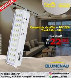 luminária auxiliar 30 leds blumenau