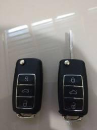 Título do anúncio: Chave Volkswagen completa para alarme original 350$ já codificada