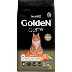 Promoção Ração Golden Gatos Castrados 10,1kg 124,90
