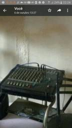 Título do anúncio: Vendo mesa de som amplificada