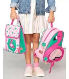 Conjunto Bolsa + Lancheira Skip Hop Flamingo