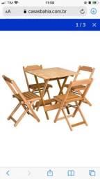 Título do anúncio: Mesa com 4 cadeiras