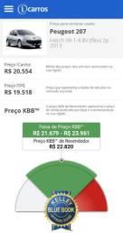 Peugeot 207 2013 abaixo da tabela