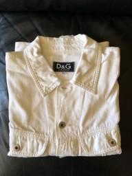 dolce gabbana jaqueta com patch de logo e botões