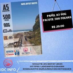 Título do anúncio: Papel A5, Sulfite, Fotográfico e OffSet diversas gramaturas