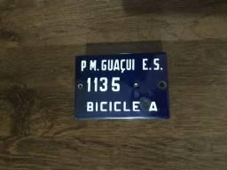 Placa de de bicicleta