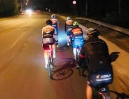 Kit par de luz de segurança para bike Bicicleta Sinalizadores Dianteiro e Traseiro 3 tempo
