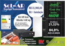 Título do anúncio: Kit Offgrid Híbrido GRowatt 3,68wp (mono 120v) (Instalado)