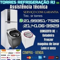 Conserto de geladeira e maquina de lavar, orçamento gratis pelo telefone