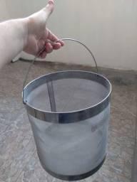 Cesto de grãos Inox 30cm 2brew - cervejaria caseira