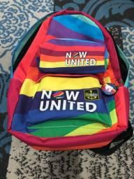 Mochila Now United + Estojo + Chaveiro