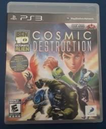 Jogo bem 10 ultimate alien cosmic destruction ps3 midia