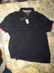 Título do anúncio: Camisa Polo Tommy Hilfiger Nova e Original tamanho G / L azul marinho