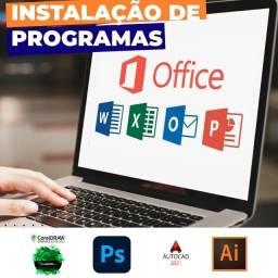 Título do anúncio: Pacote Office, Corel Draw, Photoshop, Autocad