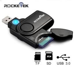 Leitor e Adaptador de Cartão SD/TF Com USB 3.0