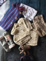Lote menino Barbada blusão/calçados/calça/bermuda...