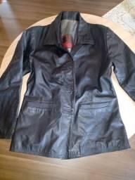 Jaqueta em couro legítimo M