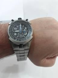 Relógio Oriente titânio fly tech