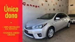 Corolla 1.8 GLi automático - único dono - 100% revisado Toyo - 2015