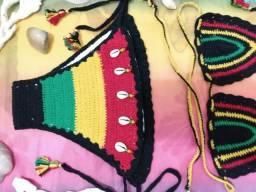 Biquíni crochê reggae p