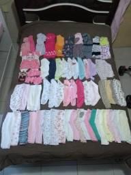 Lote bebê menina de 0 a 6 meses