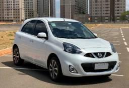 Nissan March SL 1.6 Branco Completo - IPVA pago, GPS, camera, lindo!!! - 2015
