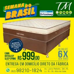 Promoção Conj. Base+ Colchão Casal Queen Luxo Molas Ensacadas! frete Grátis