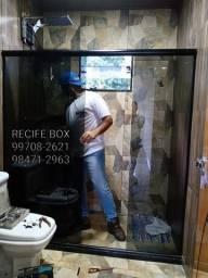 Box para banheiro em vidro temperado - Recife Box - *